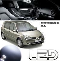 SCENIC 2 Pack 16 ampoules LED Blanc Habitacle Plafonnier Miroir bas porte Coffre