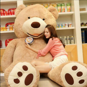 Giant Life Size Teddy Bear 200cm Skin Plush Toys Teddy Bear for Girlfriend Gift