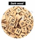 100 Wooden Scrabble Tiles Black Letters Tiles For Crafts Wood Alphabets Toy UK