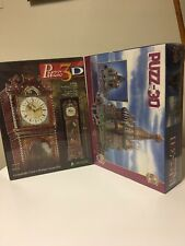 J3D Puzz-3D Saint St. Basil's Cathedral  & Puzz 3D Grandfather Clock Puzzles.