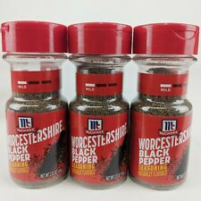 3 McCormick WORCESTERSHIRE BLACK PEPPER Seasoning Best By Date 2018 Sealed