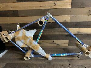 Vintage Alan Bicycle Bike Frame Frameset w/ Fork Light Blue