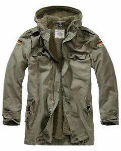 BRANDIT Giacca Giubbotto uomo militare invernale BW Parka Flag Olive Size 4XL