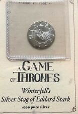 Game of Thrones Silver Coin Winterfell's Silver Stag of Eddard Stark 99.9