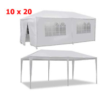 Heavy Duty Portable Garage Canopy Tent 10 x 20 Carport Party Shelter White Steel