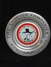 ANDOVER COMPANIES * MERRIMACK MUTUAL COLLECTOR PLATE * PEWTER * WILTON COLUMBIA