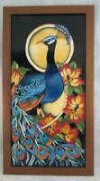Numbered EDITION Rachel Bishop Moorcroft MILLYFORD Plaque # 41 PEACOCK SIGNED !!