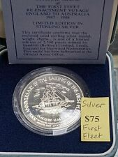 Australia First Fleet Re-Enactment Voyage Sterling Silver Limited Medal