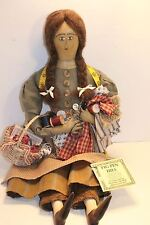 Pigpen Hill Doll 25 Sewing Day Elaine Russell Early American Country Primitive