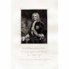 Robert Walpole Earl of Oxford; Premier premier ministre de Grande-Bretagne-ANTIQUE PRINT 1829