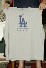 Los Angeles Dodgers T shirt 3XL sleeveless majestic gray blue show your guns