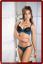 Sexy Busty Model In Blue & Black Thong Lingerie LM65 Refrigerator Magnet