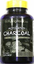 Activated Charcoal 180 Capsules Digestive Aid Gas Bloating Relief Support Pill