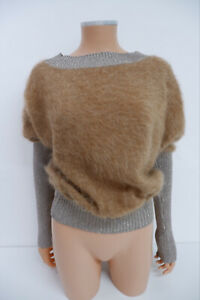Alberta Ferretti Womens BRAND NEW Jumper Sweater Top Size Uk 8 Mohair Brown
