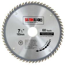 Saxton TCT Circular Wood Saw Blade 185mm x 30mm x 60T for Bosch Makita 184mm