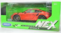 PORSCHE 911 GT3 RS 1:24 Scale Diecast Model Toy Car Miniature Orange 2015