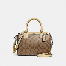 COACH F58312 Signature PVC Mini Bennett Satchel Handbag Purse Shoulder/Crossbody