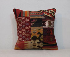 16'' x 16'' Decorative Throw Pillows,Patchwork Pillow Cover Kilim Pillow Cover