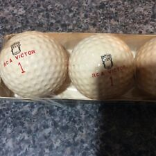 Vintage opened sleeve of 1950 RCA Victor golf balls #1 Main Line NOS