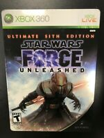 Star Wars The Force Unleashed Ultimate Sith Steelbook Xbox 360 Complete CIB