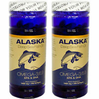 2x Alaska Deep Sea Omega-3-6-9 Fish Oil/EPA/DHA/Flaxseed Oil 100 SG Made In USA