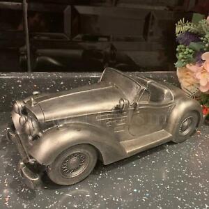Vintage Classic Car Sculpture Silver Gift Home Art Decorative Ornament Statue