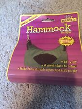 "Multipet 12"" x 12"" Medium Small Animal Hammock - NIP - Ferrets, Rats"
