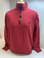 Mens Nautica 1/2 Half Zip Jumper / Sweater Size XL Red