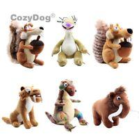 Ice Age Scrat Scratte Squirrel Sid Manny Diego Plush Toy Stuffed Animal 8'' Doll