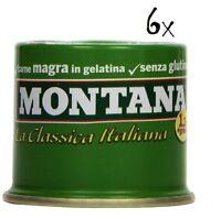 6x Montana carne classica Rindfleisch in Aspik 90 g 100% Italienisch Fleisch