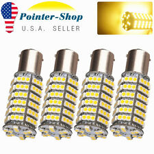 4x Warm White 1156 BA15S 120 SMD RV Camper Trailer LED Interior Light Bulbs 1141