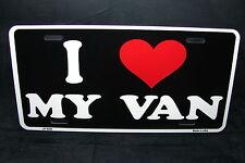 I LOVE MY VAN METAL NOVELTY LICENSE PLATE TAG FOR VANS