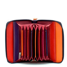Mywalit Leather Concertina Styled Credit Card Holder Boxed Sangria