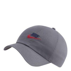 Mens Nike Sportswear Heritage 86 Futura Washed Cap 913011 068 Grey/Red