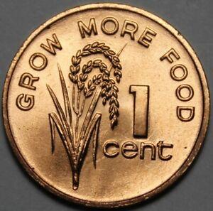 Fiji Cent, 1981 Gem Unc FAO~Rice Plant~Elizabeth II