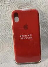 Original Apple iPhone X / Xs Silikon Case in Rot