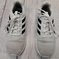 Adidas Cloudfoam Boys Size 5 Lite Racer Running Shoes White EG5817 Low Top
