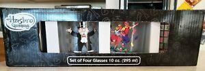 Hasbro Gaming 4 10 oz. Glasses Scrabble Monopoly Twister Candyland Barware