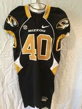 Game Worn Used Missouri Tigers Mizzou Football Jersey #40 Size 40 GREEN