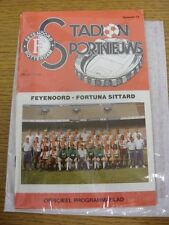 24/03/1991 Feyenoord v Fortuna Sittard  . Thanks for viewing our item, buy with
