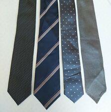 4 Skinny Ties Bundle - NEXT, Diaz, BHS, smart Business Neckties Party or Formal
