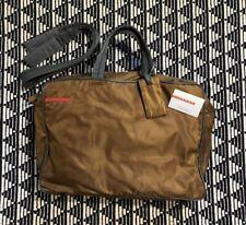 Authentic Prada Milano Boston All Sport Tabacco Messenger Briefcase Side Bag Vtg