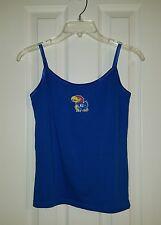 Kansas Jayhawks Womens Royal Blue SZ M Tank Top Bra Sleeveless Cotton Knit Shirt