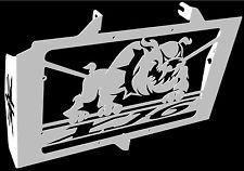 """cache / Grille de radiateur  inox poli Yamaha 600 XJ6 2009>2016 design """"Bulldog"""""""