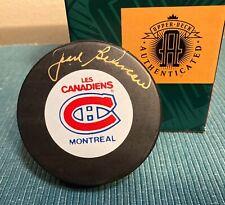 Jean Beliveau Signed Autographed Canadiens Official Game Puck UDA Upper Deck HOF