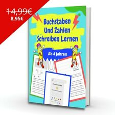 Buchstaben und Zahlen Schreiben Lernen - Lernbuch & Malbuch für Kinder✅