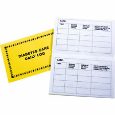 Large Print Diabetes Register Daily Care Log for Low Vision Easy to See