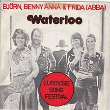 """ABBA """"Waterloo"""" & """"Watch Out"""" 1974 Holland Record (VG+) Picture Sleeve (VG+)"""