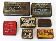 Tins Mixed Bundle 7 x Tobacco Log Cabin Temple Bar Capstan State Express Bell's
