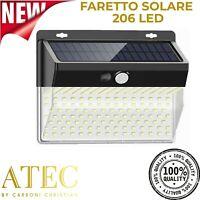 ATEC - Faretto Solare da Esterno IP65 (1PZ Faretto 206 Led)